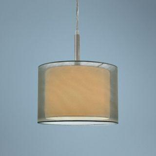 "Sonnemann Puri 10"" Wide Satin Nickel Mini Pendant Light   #U9037"