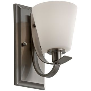 "Murray Feiss Spectra 10"" High Brushed Steel Wall Sconce   #X2346"