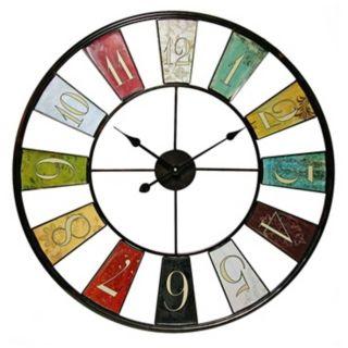 """Kaleidoscope 31 1/2"""" Round Framed Wall Clock   #W1001"""