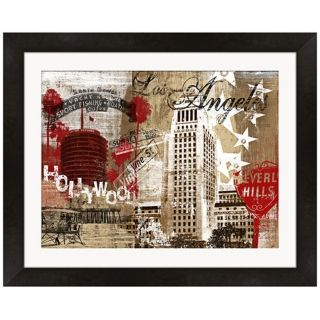 "Los Angeles Collage 21"" Wide Framed Wall Art   #W9348"