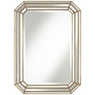 "Uttermost Cut Corner 32"" High Antique Gold Wall Mirror   #W0078"