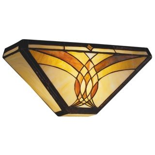 """Art Glass Joined Curves 15"""" Wide Sconce   #03363"""