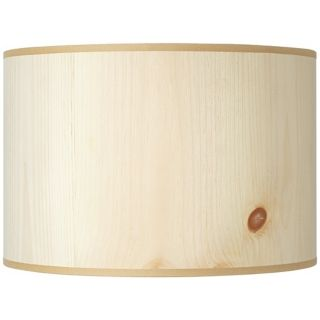 Lights Up Pine Wood Veneer Lamp Shade 14x14x10 (Spider)   #U6005