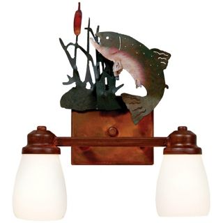 "Parkshire Collection Trout 13"" Wide Bathroom Light Fixture   #J0553"
