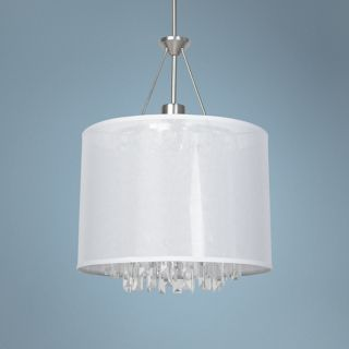 """Piccadilly 18"""" Wide Nickel 3 Light Pendant Light   #Y0026"""
