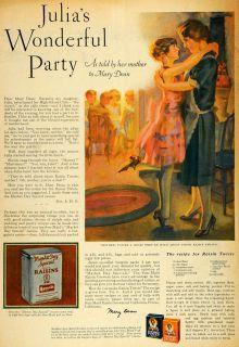 1928 Ad Julias Party Mother Daughter Sun Maid Raisins   ORIGINAL