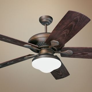 """54"""" Monte Carlo Shores Bronze Outdoor Ceiling Fan with Light   #36378"""
