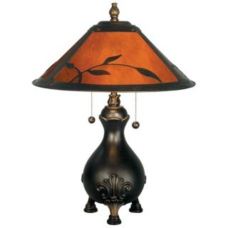 Dale Tiffany Mica Leaves Table Lamp   #X2676