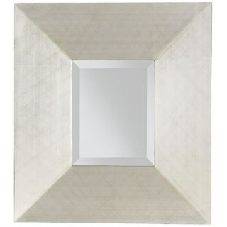 horizontally. 18 wide. 20 high. Mirror glass is 8 wide and 20 high