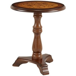 Suzanne Round Wood End Table   #X1567
