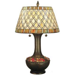 Dale Tiffany Winona Art Glass Night Light Table Lamp   #X2854