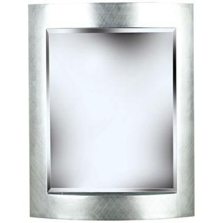 "Metro Silver 35"" High Wall Mirror   #T5048"