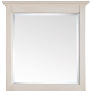 "Tropica Antique White 32"" High Vanity Wall Mirror   #R9026"