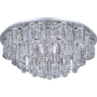 "ET2 Bangle Chrome 26"" Wide Flush Mount Ceiling Fixture   #T2369"