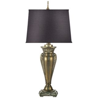 Venetian Brass Cast Metal Table Lamp   #J6559