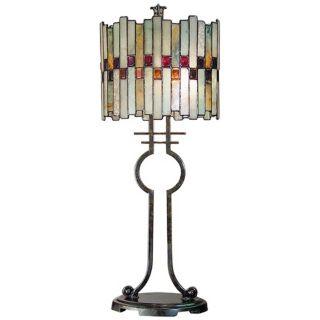 Dale Tiffany Haskey Art Glass Table Lamp   #X2575