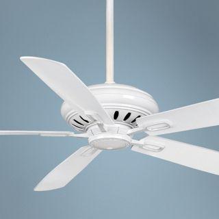 "60"" Casablanca Holliston White Energy Star DC Ceiling Fan   #T2741"