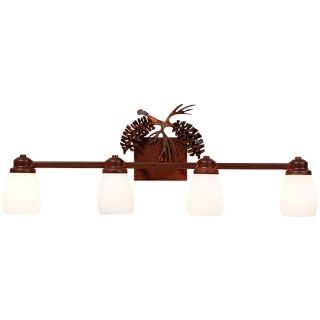 "Parkshire Collection 3D Cone 30"" Wide Bathroom Light Fixture   #J0558"
