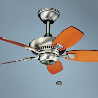"""30"""" Kichler Canfield Brushed Nick Indoor Outdoor Ceiling Fan   #K9886"""