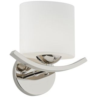 Wave Collection 9 1/4 Wide Polished Nickel Wall Sconce   #U1721