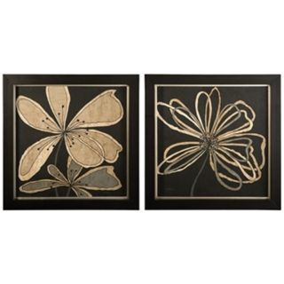 Uttermost Set of 2 Oxygen Flower Wall Art   #J2994