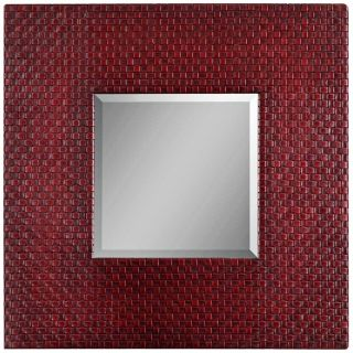 """Uttermost Woven Red 40"""" High Wall Mirror   #R4621"""