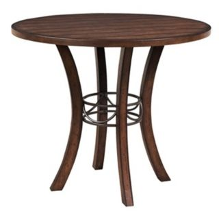 Hillsdale Cameron Round Wood Counter Height Dining Table   #V9830