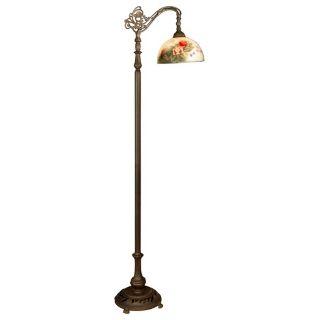 Dale Tiffany Pink Petal Downbridge Desk Lamp