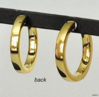 New Jude Frances Camelia Yellow 18K Gold Hoop Earrings
