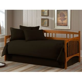Solid Black Paramount 5 Piece Daybed Bedding Set   #U8421