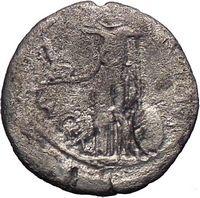 Julius Caesar Lifetime Issue Portrait 44BC Silver Ancient Coin Venus