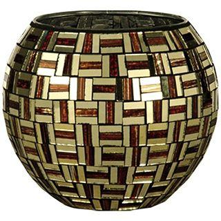 Dale Tiffany Ravenna Mosaic Art Glass Candle Holder   #X5038