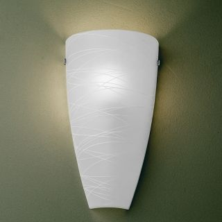 """Possini Frosted 13 1/4"""" High Art Glass Pocket Wall Sconce   #16980"""