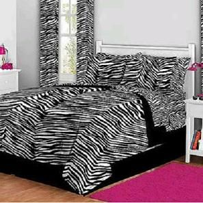 Zebra Print Complete Bed in A Bag Bedding Set Queen