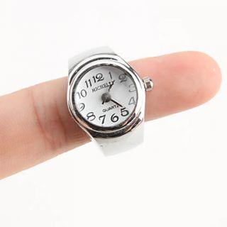 USD $ 2.79   Womens Stylish Alloy Analog Quartz Ring Watch (Silver