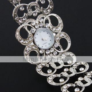 EUR € 7.81   Orologio bracciale da donna con decorazione in diamanti