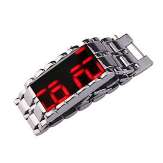 USD $ 10.79   Stylish Stainless Steel LED Wristwatch with Mirror