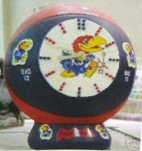 Ceramic Bisque Basketball Clock Jr High High School College NBA Team U