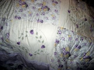 NIP Armoire Lavender Roses Julia Twin 3pc Comforter Set