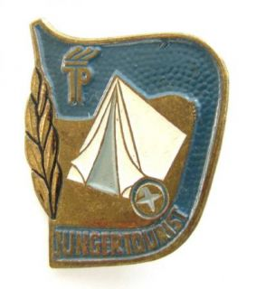 Vintage Pin Badge DDR GDR Junger Tourist East Germany