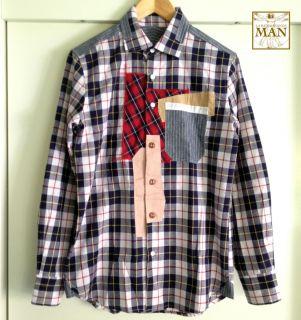 JUNYA Watanabe Man Style Patch Work Shirt Size Small