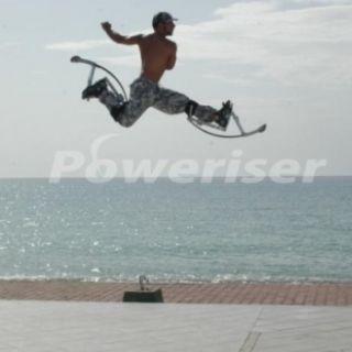 Poweriser Jumping Stilt Male Female Youth Kids Small Adult Blue 66 110