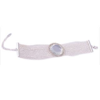 € 6.98   Color Plata Bola Shape Crystal Bracelet, ¡Envío