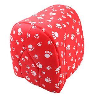 Casa do estilo da pata do animal de estimação cama padrão (vermelho