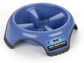JW Pet Skid Stop Slow Feed Dog Food Bowl Dish Large