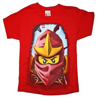 New Lego Ninjago Masters of Spinjitzu Kai Boys T Shirt Red Ninja Cole