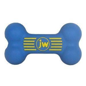 JW Pet Isqueak Bone Large Squeaker Dog Toy 8 Inch