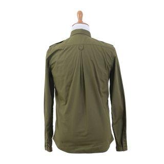 Just Cavalli Olive Green Casual Long Sleeve Shirt US M EU 50