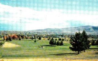 1950s Kalispell Montana City View Vintage Postcard