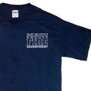 Maui Fire Department Firefighter Hawaii T Shirt XL